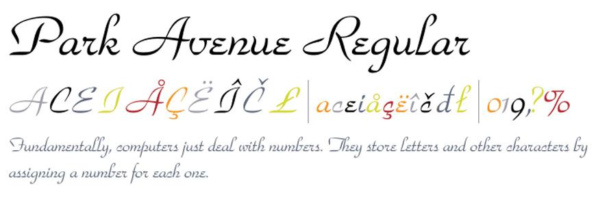 Park Avenue Font